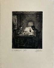 Auguste-Jean GAUDIN / Hand signed and numbered Etching print