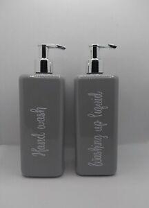 ♡ Mrs Hinch inspired Pump Bottles 500ml hand wash washing up liquid set of 2 ♡