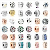 Silver Clip Lock Spacer Stopper New Shining Elegance Jewellery Making Charm Bead