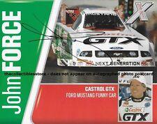 JOHN FORCE AUTOGRAPHED 2006 CASTROL GTX RACING NHRA FUNNY CAR PHOTO POSTCARD