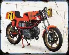 Ducati 600 Tt Pantah A4 Metal Sign Motorbike Vintage Aged