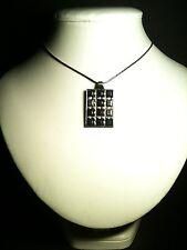 Artisan Bohemian Black Grey And Silver Art Deco Drop Pendant Necklace. Diamontes