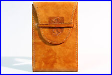 1950's Berlin LEATHER pocket pouch case purse for pictures buisness credit cards