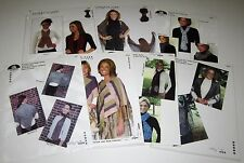 Lot of 7 PLYMOUTH Knitting Yarn Patterns for SCARVES SHAWLS and PONCHO