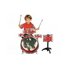 Kids Drum Set Cymbals Junior Boy Girl Toy Red Musical Instrument Complete 11pc