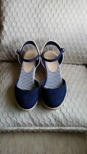 Navy Shoes M&S Size  UK 5/38 Wide Fit