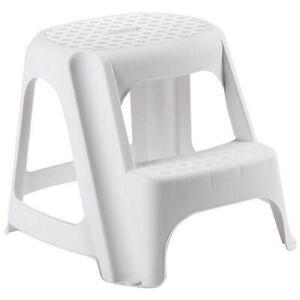West Side -Tritthocker - Kinderhocker - Hocker Weiß 150 Kg 2 stufen