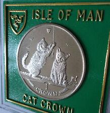 2001 Isle of Man somalo GATTINI razza Cat Crown MEDAGLIA BU SET REGALO nel caso di visualizzazione
