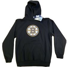 Boston Bruins NEW Youth Large (10/12) Crest Hooded Sweatshirt NHL Hockey Hoodie