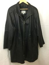 Lord & Taylor Real Leather Coat Jacket Black Size 1X