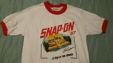 Vintage 80's Snap On Tools Ringer T Shirt  Racing