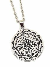 Chakra Ciondolo SRI JANTRA 3RD Eye Hindu 18 POLLICI CATENA Amuleto Talismano placcato