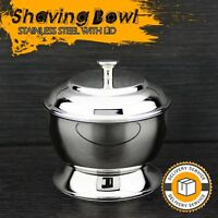 Stainless Steel Made Men's Shaving Soap Bowl With The Lid. Perfect To keep Soap.