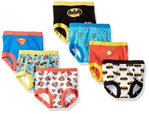 Justice League Boys Training Pants 7-Pack Briefs Sizes 2T, 3T, 4T