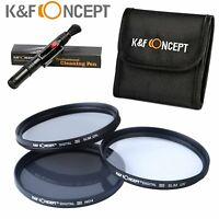 72mm UV CPL ND4 Slim Filter Kit + Cleaning Pen + Filter Bag Pouch K&F Concept