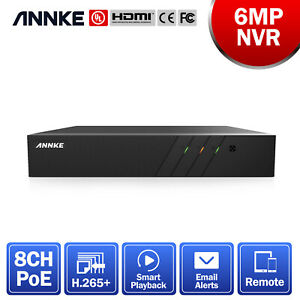 ANNKE 8CH 6MP H.265+ NVR Video Recorder for POE Security Camera System Montion