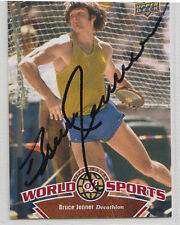 Bruce Jenner Olympic Gold Medal SIGNED CARD AUTOGRAPHED