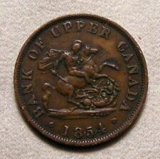 1854 Bank Of Upper Canada Half Penny Token!!  BR-720!! 1/2 Penny!!