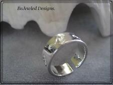open Solid Toe Ring Silver