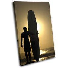 Surfer Sports SINGLE TOILE murale ART Photo Print