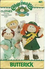 B 3728 sewing pattern Cabbage Patch DOLL CLOTHES sew Astronaut GIRL SCOUT Doctor