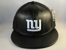 NFL New York Giants Reebok Fitted Hat Cap Size 7 Black Leather