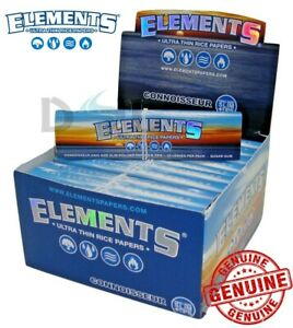 Elements Connoisseur Rice Smoking King Size Slim Cigarette Papers Tips Roach