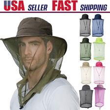 Men Women Hiking Mosquito Net Hat Camping Fishing Hidden Mesh Cap Sun Protection