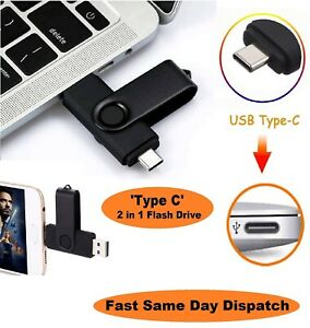 64gb Type-C 2 in 1 Photo Stick USB Flash Memory Drive Android/Samsung/Huawei/PC