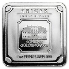 1 oz. Silver Bar - Geiger Edelmetalle (Original Square Series)  .999 PURE SILVER