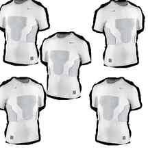Nike Kompressions Shirt mit Protektoren Größe 158-170 (XL) weiss