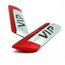 2pcs Red VIP Metal Chrome Emblem Badge Side Trunk Rear Sticker For Nissan