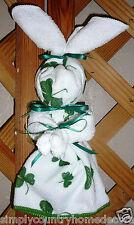KITCHEN BUNNY~St. Patrick's Day~Shamrocks~Handcrafted~Wall Decor~NEW