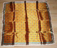 COPPER BRONZE COLORS CHECKERED GEOMETRIC PATTERN AUTUMN COLORS WOMENS SCARF