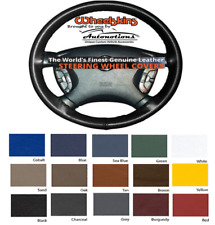 Leather Steering Wheel Covers for Ford SUV Vehicles Genuine Cowhide Wheelskins