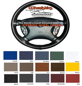 Leather Steering Wheel Cover for Toyota Cars - NEW Genuine Cowhide Wheelskins