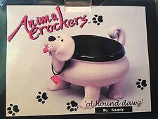Ceramic Dog Bowl NIB.   Planter Fruit Bowl Dog Treats Many Uses