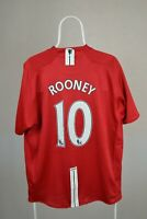 2007-2009 Red Nike Manchester United Football Shirt Home Jersey AIG #10 Rooney