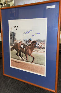 Penny Tweedy AND Ron Turcotte Autograph Secretariat May 5th 1973 RARE (16x20)