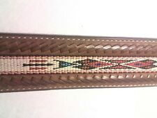 *SILVER CREEK CLASSICS* Men's Size 34 Braided Aztec Design Braided Leather Belt