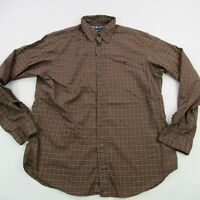 Ralph Lauren Polo Mens Shirt Long Sleeves XL Button Down Checks Brown Custom Fit