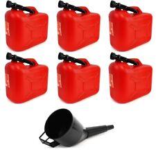 6x 20 L Kraftstoffkanister Benzinkanister Reserve Kanister + TRICHTER
