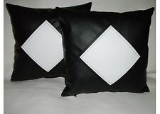 Genuine 100% New BLue Lambskin Leather Sofa Pillow Cushion Covers Home Decor 24