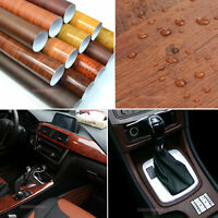 AB Glossy Wood Grain Sparrow Textured Vinyl Wrap Sticker Car Home Decors #9738