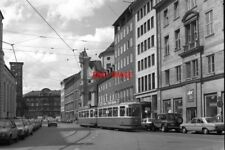 PHOTO  GERMANY TRAM 1982 PACELLISTRASSE 6-WHEEL TRAM CAR WITH TRAILER (REAR VIEW