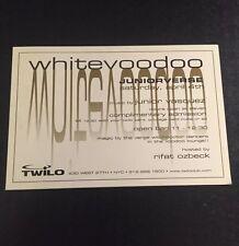 1990s NYC Club Flyer: JUNIORVERSE - White Voodoo w/ JUNIOR VASQUEZ @ TWILO NYC