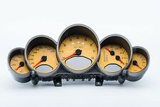 PORSCHE 997 TURBO MK1 INSTRUMENT CLUSTER UK MPH °C 99764113833D07 SPEED YELLOW
