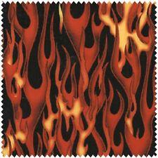 Elizabeth's Studio In Motion 144 RED Flames BTY Cotton Fabric