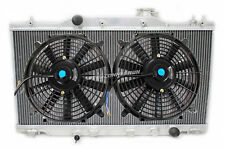 "RACING 2 ROW DUAL CORE ALUMINUM RADIATOR + 12"" SLIM FAN FOR 02-06 ACURA RSX K20"
