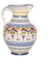 "Spanish Majolica Classica Pitcher 8"" Tall Spain, ceramic, pottery"